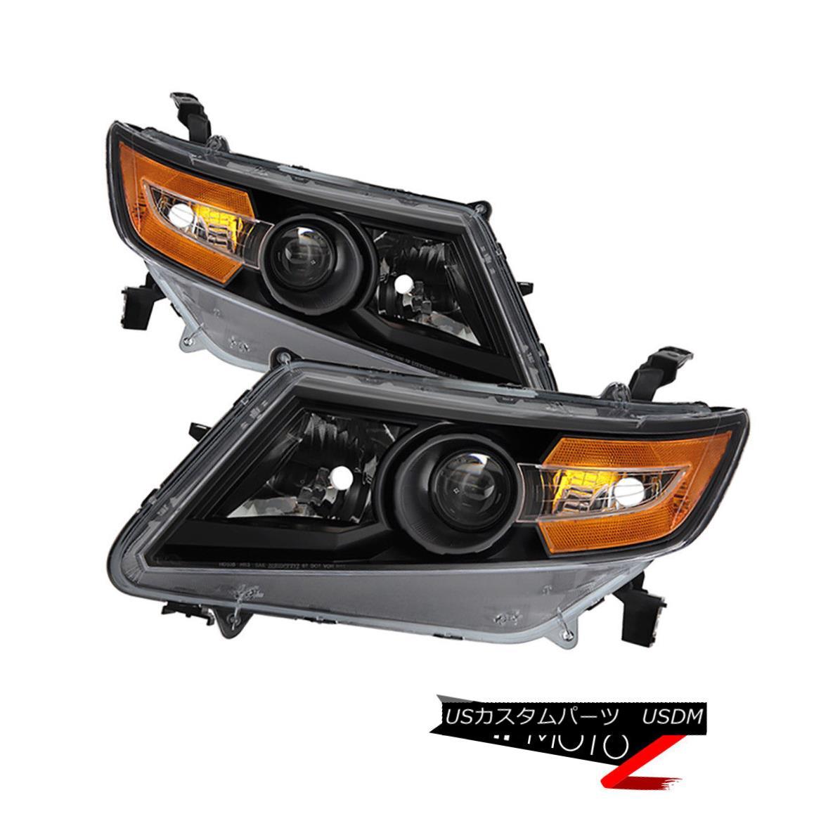 ヘッドライト [New Factory Style] 2011-2017 Honda Odyssey Black Headlights Replacement Lamps [新工場スタイル] 2011-2017ホンダオデッセイブラックヘッドライト交換ランプ