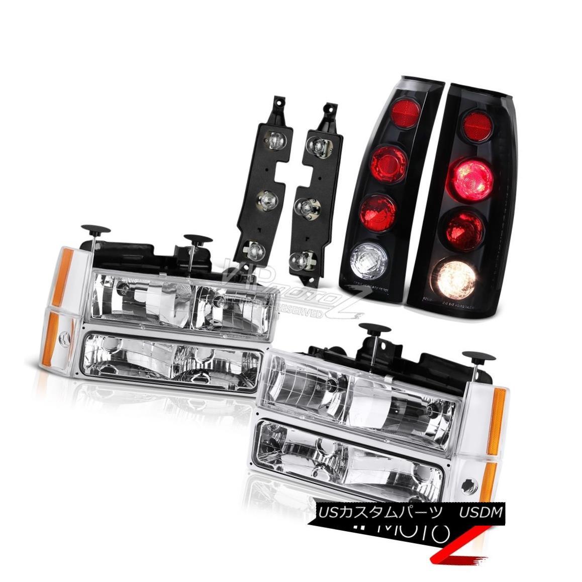 ヘッドライト 88-93 Silverado 3500 Bulbs Holder Matte Black Tail Lamps Headlamps Bumper Corner 88-93 Silverado 3500球根ホルダーマットブラックテールランプヘッドランプバンパーコーナー