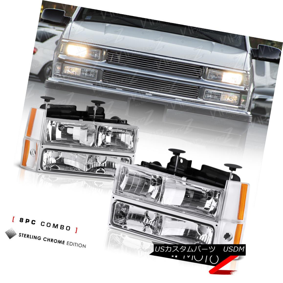 ヘッドライト 1988-1993 Chevy C/K Suburban Blazer Headlights Corner Bumper Lamps K1500 C1500 1988-1993シボレーC / K郊外ブレザーヘッドライトコーナーバンパーランプK1500 C1500