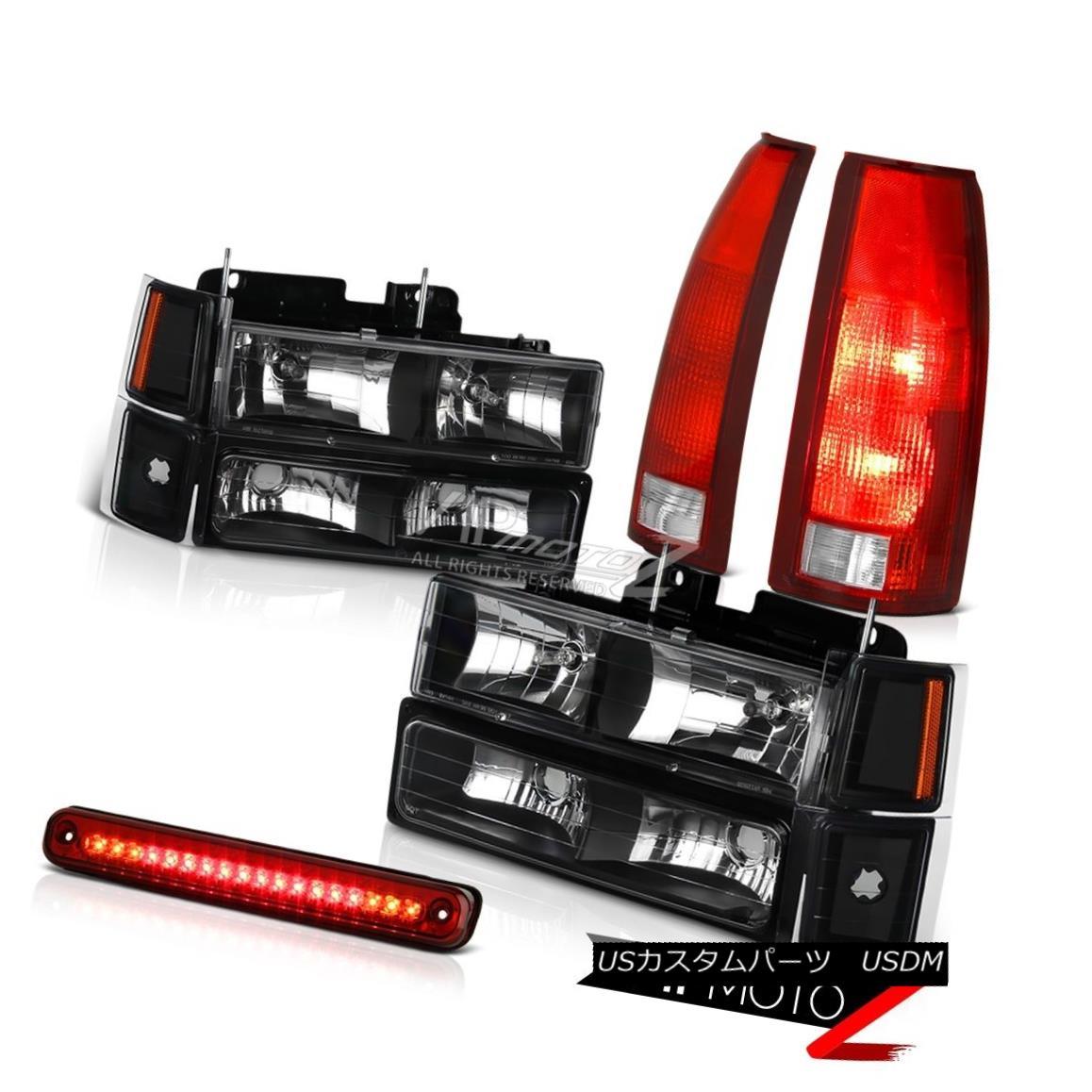 ヘッドライト 94-98 Chevy K2500 Red Clear 3RD Brake Lamp Taillights 8Pcs Headlight Combo LED 94-98シボレーK2500レッドクリア3RDブレーキランプテールライト8個ヘッドライトコンボLED
