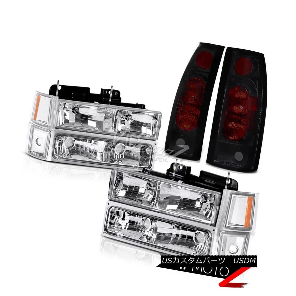 ヘッドライト Tahoe 94-99 Clear Headlight Signal Bumper Parking Sinister Black Rear Tail Lamp[ タホ94-99クリアヘッドライト信号バンパーパーキングシニスターブラックリアテールランプ[