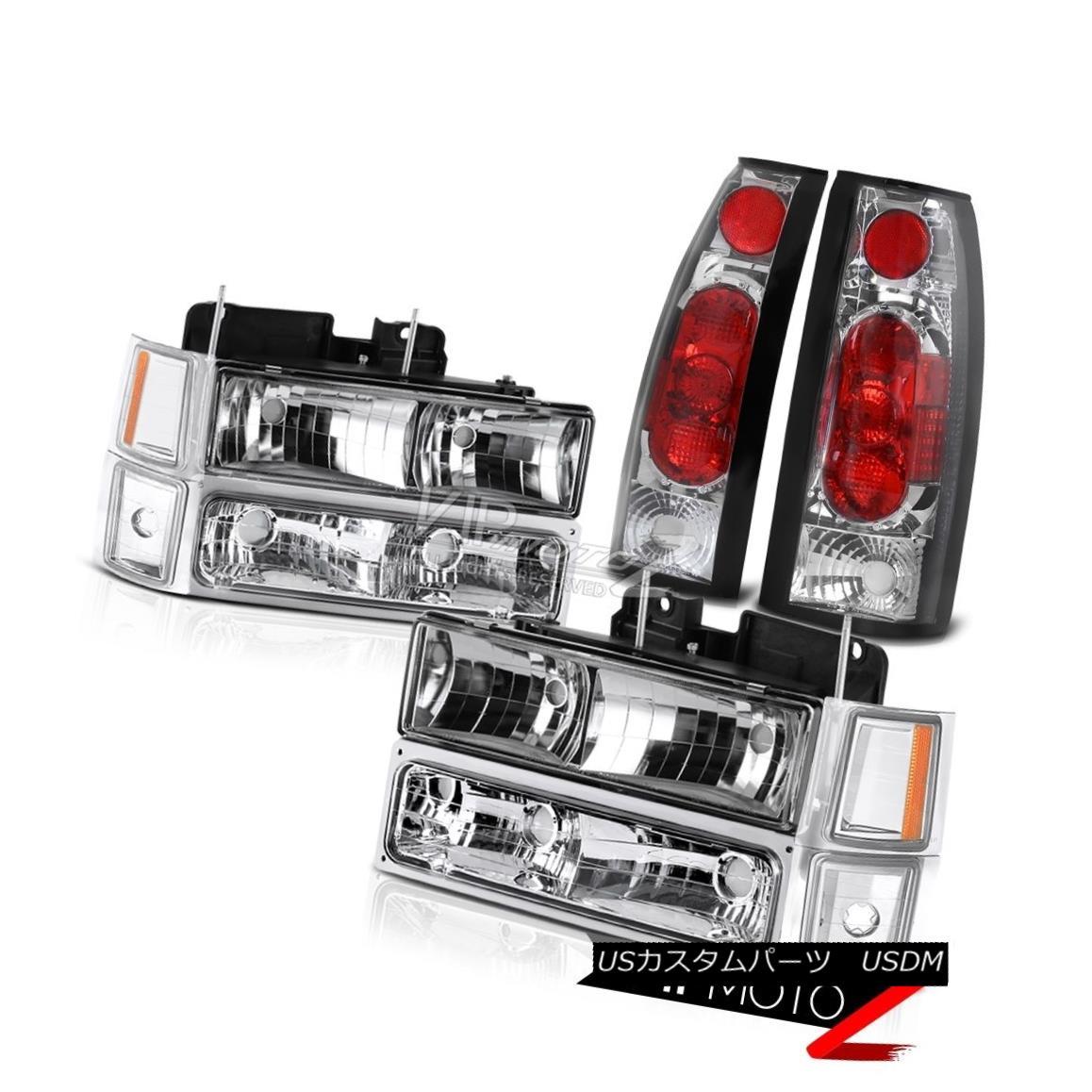 ヘッドライト NEWEST Chrome Altezza Tail Lights Headlights 1994-1998 Chevy Silverado Suburban 最新のクロームAltezzaテールライトヘッドライト1994-1998 Chevy Silverado郊外