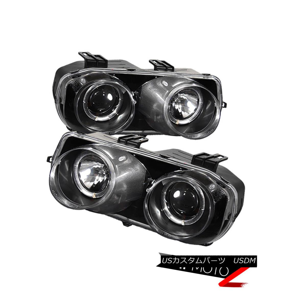 ヘッドライト 94-97 ACURA INTEGRA DC2 JDM Black Pair Left+Right Halo Projector Headlight Lamps 94-97 ACURA INTEGRA DC2 JDMブラックペア左+右ハロープロジェクターヘッドライトランプ