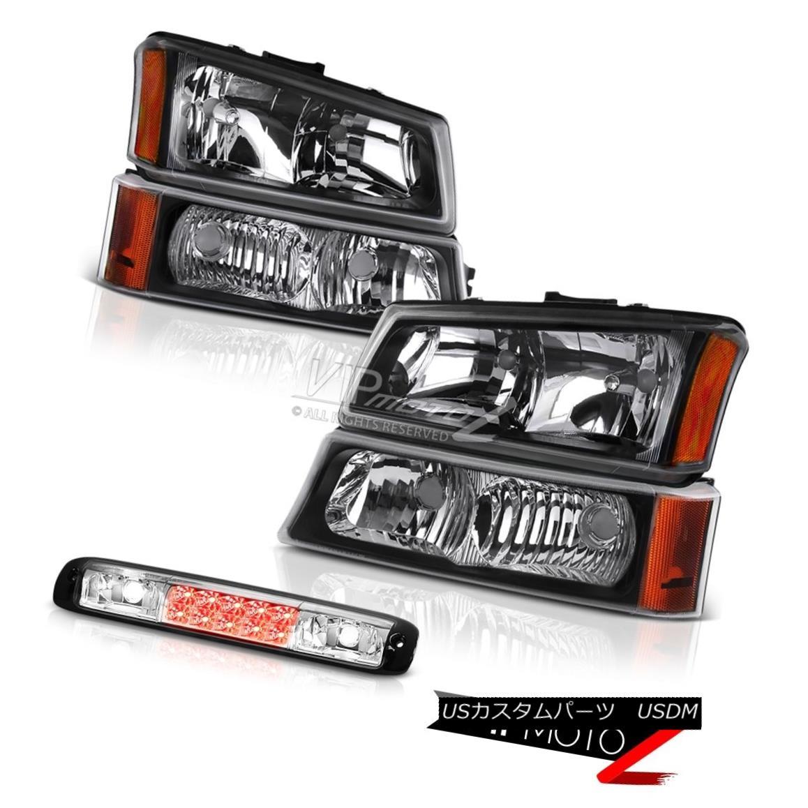 ヘッドライト 2003-2006 Silverado 1500 Euro Chrome Roof Brake Light Infinity Black Headlamps 2003-2006 Silverado 1500ユーロクロームルーフブレーキライトインフィニティブラックヘッドランプ