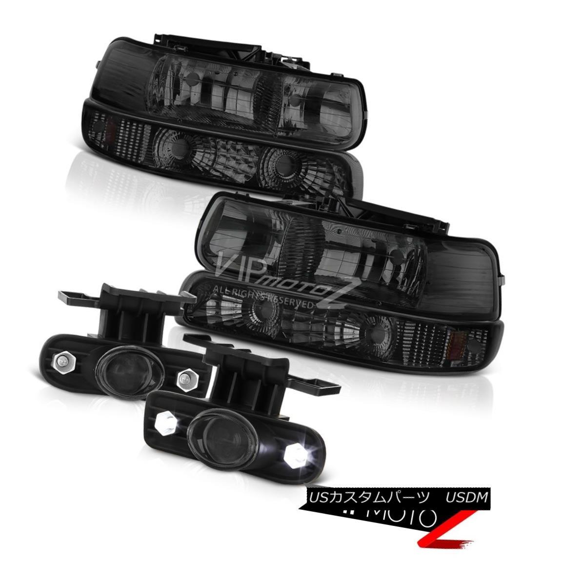 ヘッドライト 1999 2000 GMT800 Silverado Smoke Bumper Headlamps LED Switch Relay Foglamps 1999 2000 GMT800 SilveradoスモークバンパーヘッドランプLEDスイッチリレーFoglamps