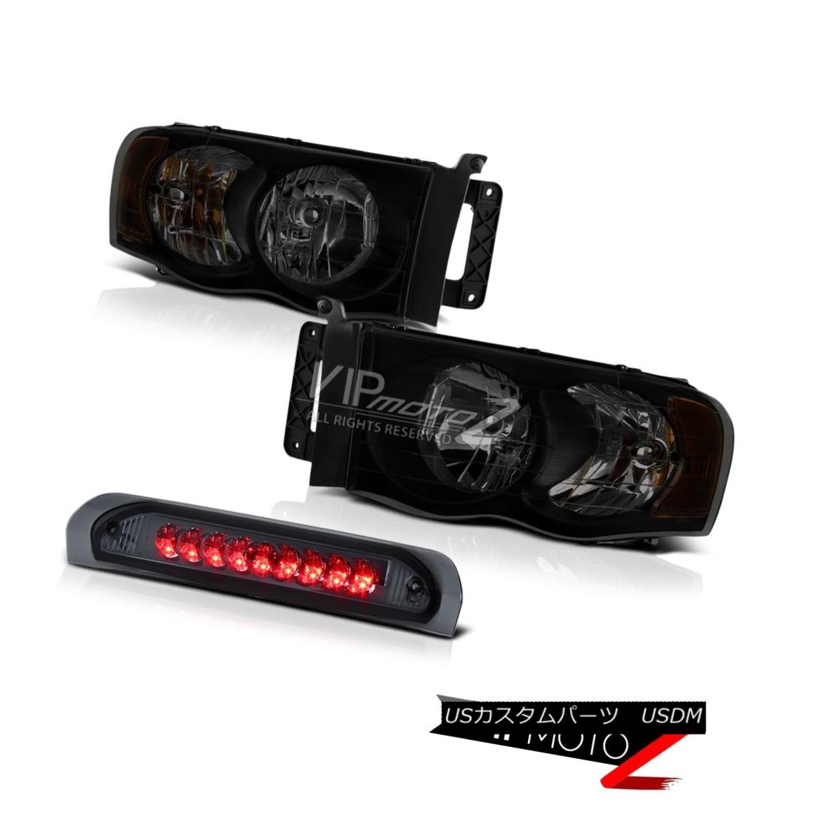 ヘッドライト 02-06 Dodge Ram 2500 3500 5.9L Sinister Black Headlamps High Stop Lamp Assembly 02-06 Dodge Ram 2500 3500 5.9L Sinister Blackヘッドランプハイストップランプアセンブリ