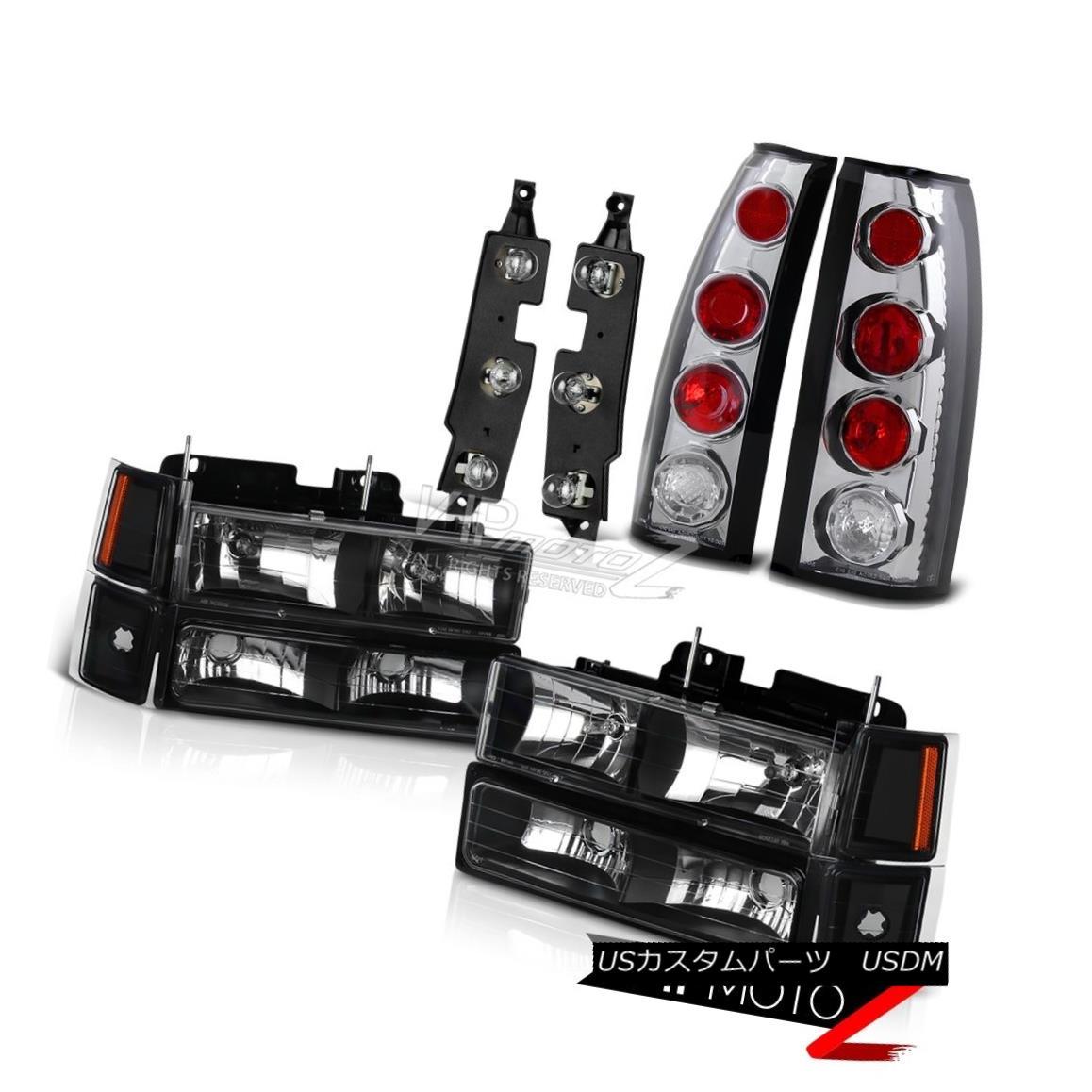 ヘッドライト 94 95 96 97 98 Chevy C2500 Tail Lamp Panel Taillights Black 8Pcs Headlight Combo 94 95 96 97 98シボレーC2500テールランプパネルテールランプブラック8個ヘッドライトコンボ