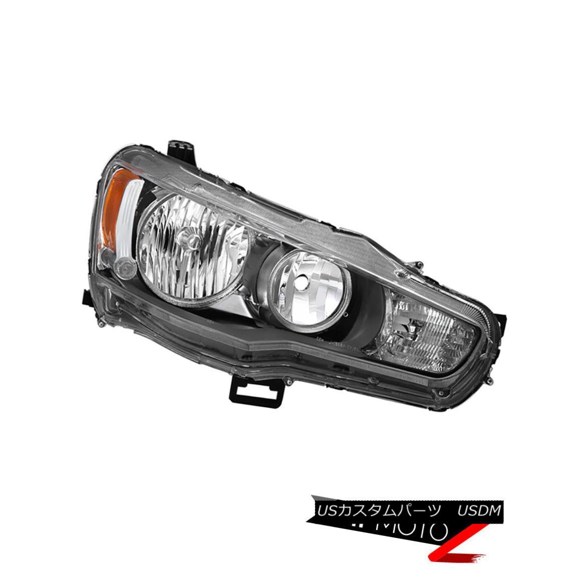 ヘッドライト 2008-2017 Mitsubishi Lancer ES Ralliart {FACTORY STYLE} Passenger Side Headlight 2008-2017 Mitsubishi Lancer ES Ralliart {ファクトリースタイル}乗用サイドヘッドライト
