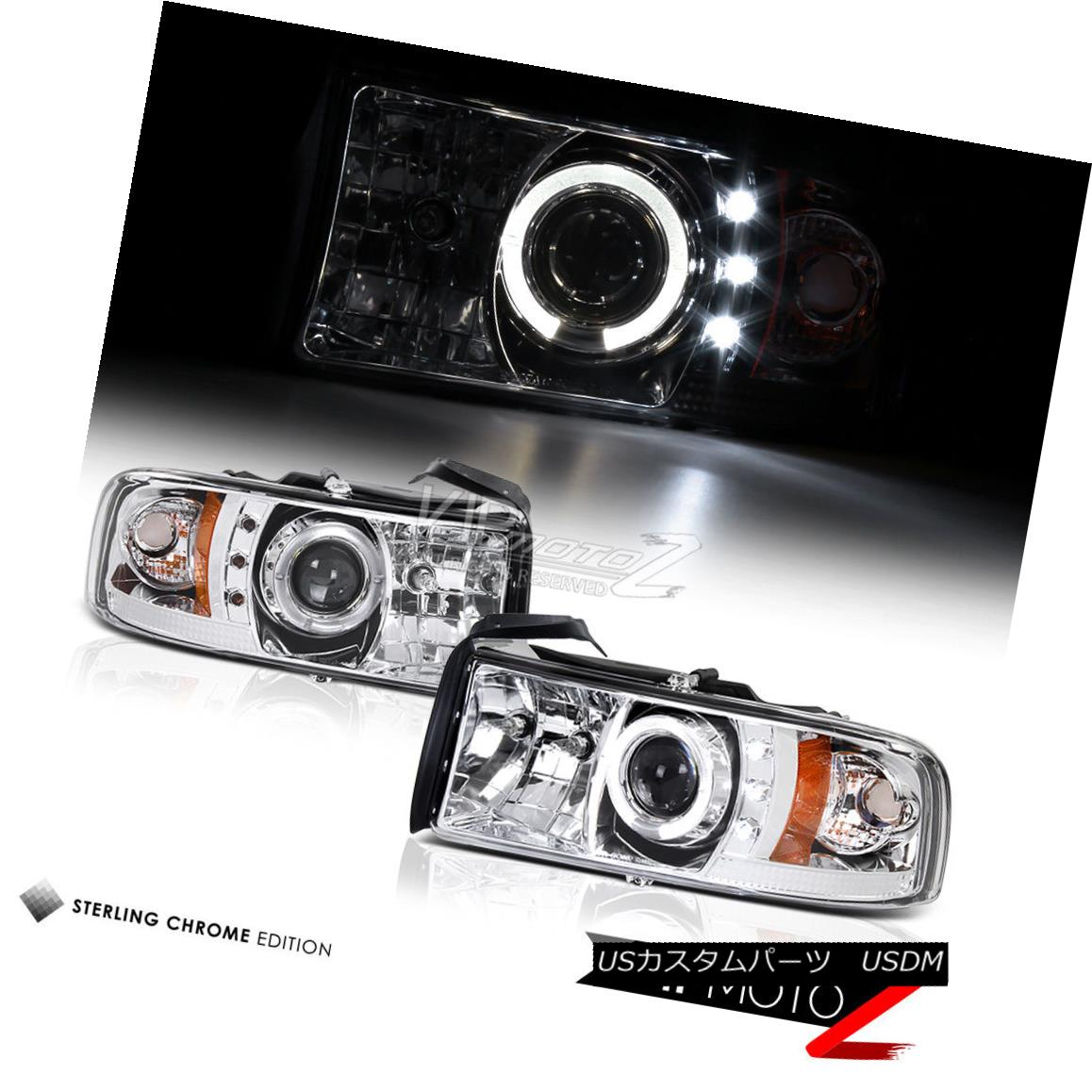 ヘッドライト 1994-2001 Dodge Ram 1500/2500/3500 Chrome Clear Halo LED Headlight Headlamp PAIR 1994-2001 Dodge Ram 1500/2500/3500 Chrome Clear Haloヘッドライトヘッドランプペア