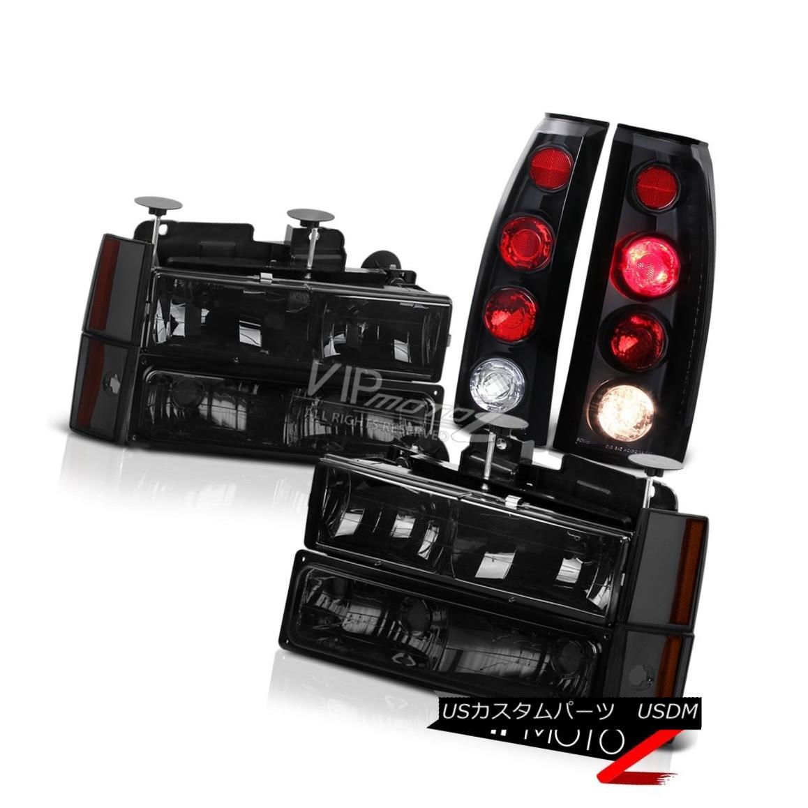 ヘッドライト Black Rear Brake Light Assembly+Smoke Corner Parking Headlight 88-93 Chevy C10 ブラックリアブレーキライトアセンブリ+煙コーナーパーキングヘッドライト88-93 Chevy C10