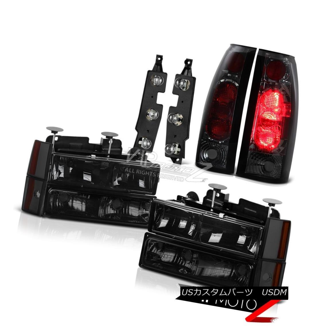 ヘッドライト 1988-1993 Chevy K3500 Bulbs Holder Smokey Tail Lights 8Pcs Headlight Combo Euro 1988-1993シボレーK3500球根ホルダースモーキーテールライト8個のヘッドライトコンボユーロ