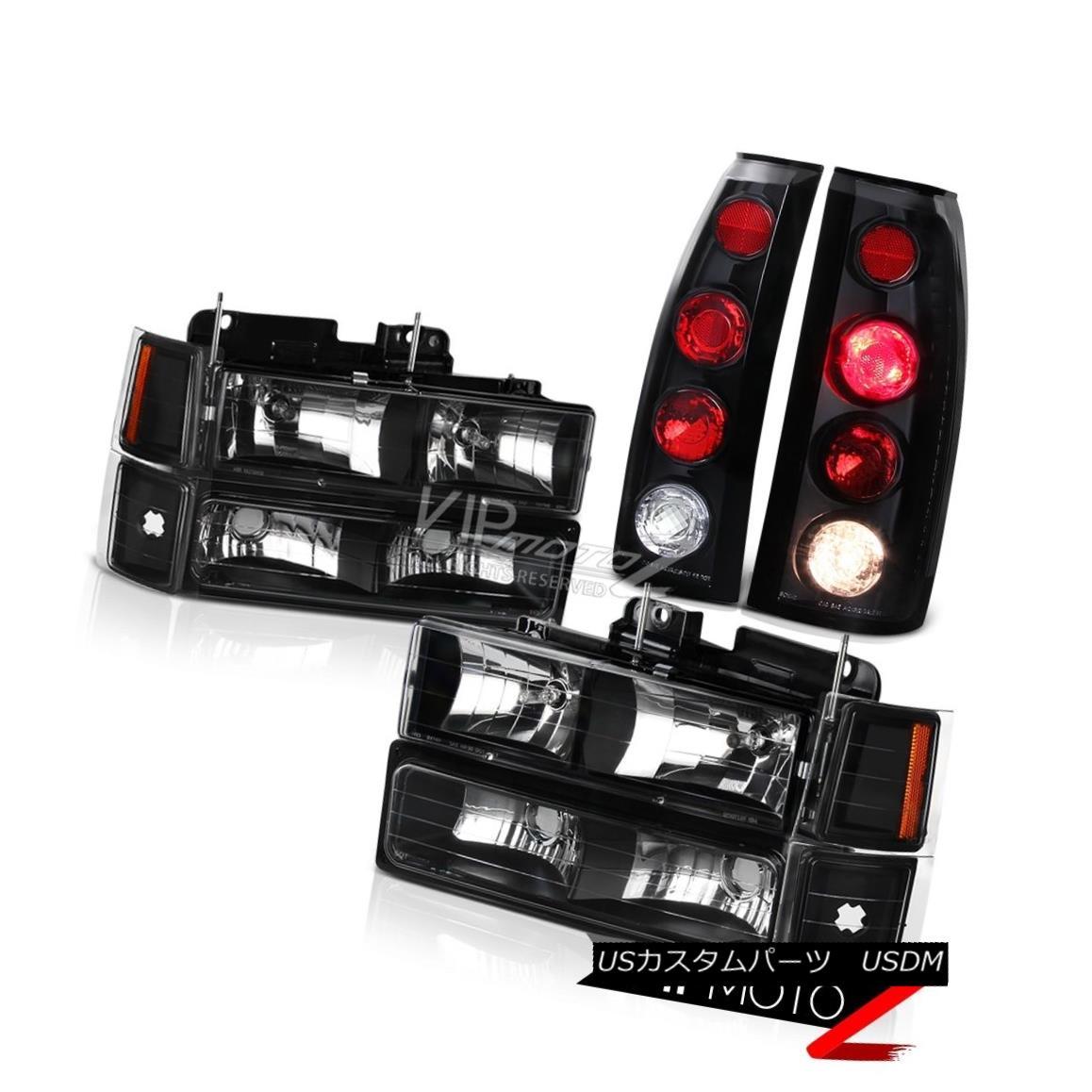 ヘッドライト Black Amber Corner Side Marker Parking Bumper Head Lights Red Euro Tail Lights ブラックアンバーコーナーサイドマーカーパーキングバンパーヘッドライトレッドユーロテールライト