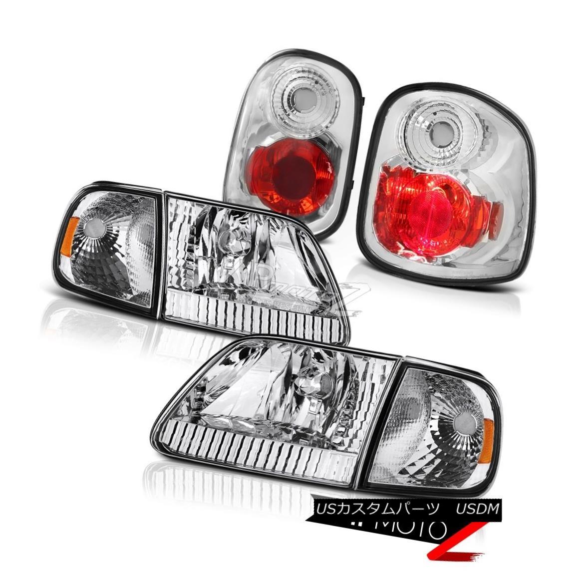 ヘッドライト Crystal Corner Headlights Chrome Brake Lamps 1997-2000 F150 Flareside Lightning クリスタルコーナーヘッドライトクロームブレーキランプ1997-2000 F150 Flareside Lightning