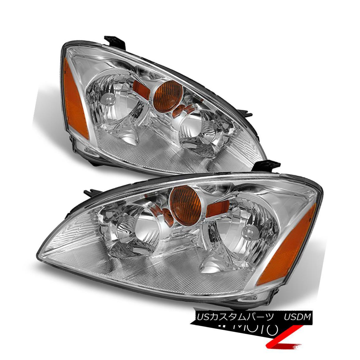 ヘッドライト For 2002 2003 2004 Altima 4D Sedan Factory Style LEFT RIGHT Headlights Assembly 2002年2003年Altima 4DセダンファクトリースタイルLEFT RIGHTヘッドライトアセンブリ