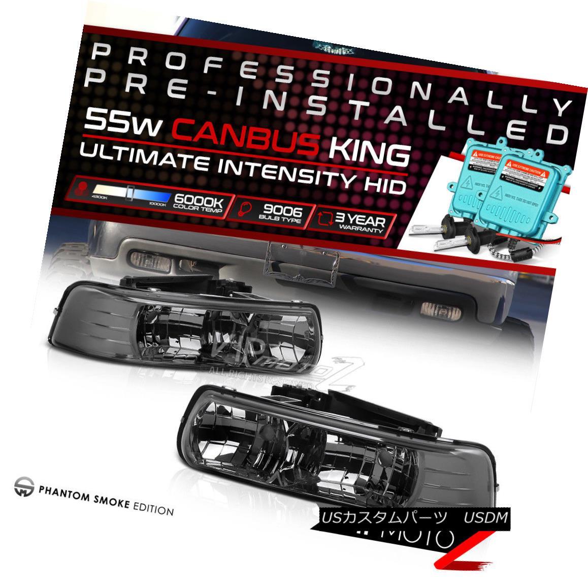 ヘッドライト !PRE-INSTALLED HID LOW BEAM! 99-02 Chevy Silverado Truck Titanium Headlamp LH+RH !プリインストールされたHID LOW BEAM! 99-02シボレーシルバラードトラックチタンヘッドランプLH + RH
