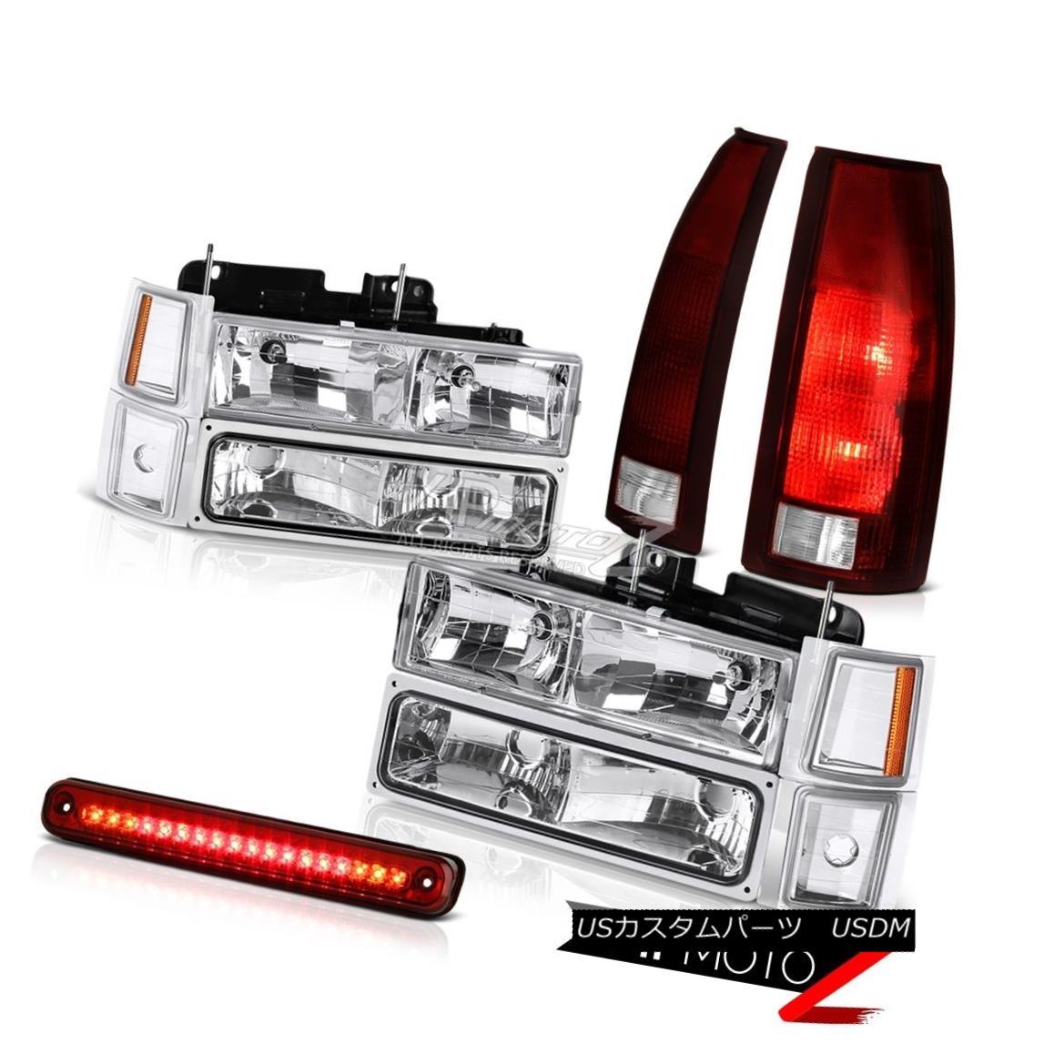 ヘッドライト 94-98 Chevy K3500 Bloody Red High Stop Light Tail Lamps Headlamps Bumper Corner 94-98シボレーK3500ブラッディーレッドハイストップライトテールランプヘッドランプバンパーコーナー