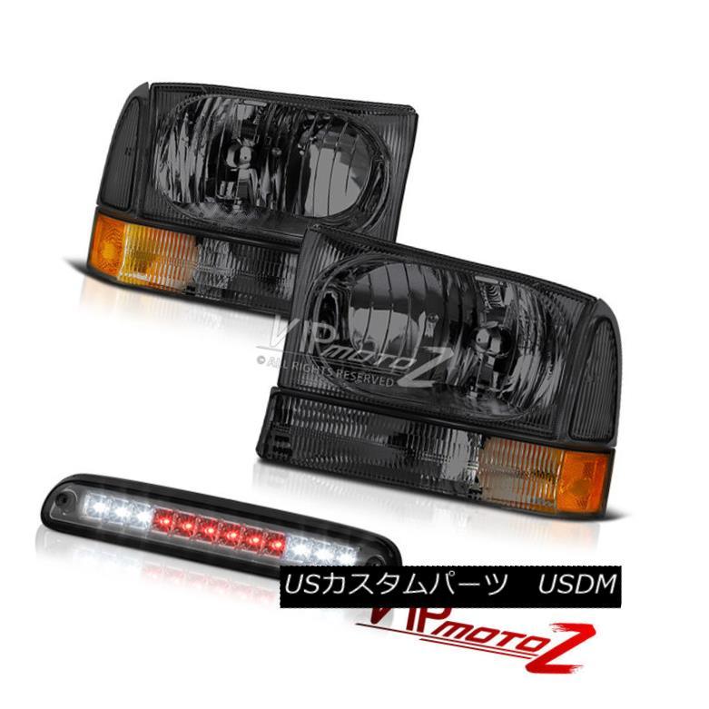 ヘッドライト 1999-2004 F350 6.8L Tinted Singnal Headlights Lelf Right Smoke Third Brake LED 1999-2004 F350 6.8L着色信号ヘッドライト右煙第3ブレーキLED