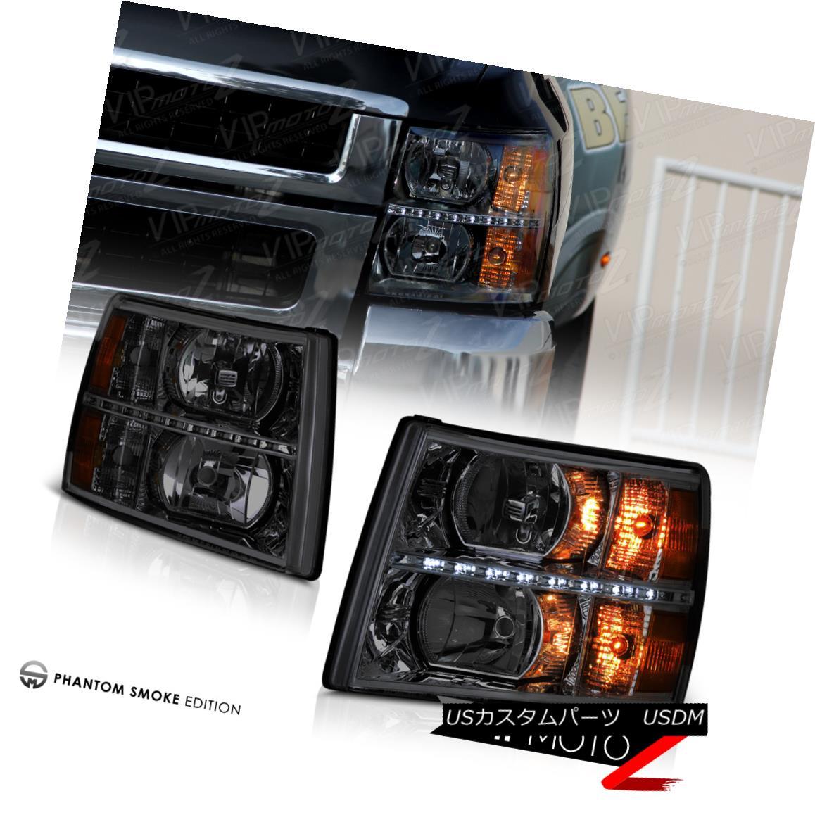 ヘッドライト 2007-2013 Chevy Silverado [SMOKE] LED SMD Front Headlights Headlamps PAIR LH+RH 2007-2013 Chevy Silverado [SMOKE] LED SMDフロントヘッドライトヘッドランプPAIR LH + RH