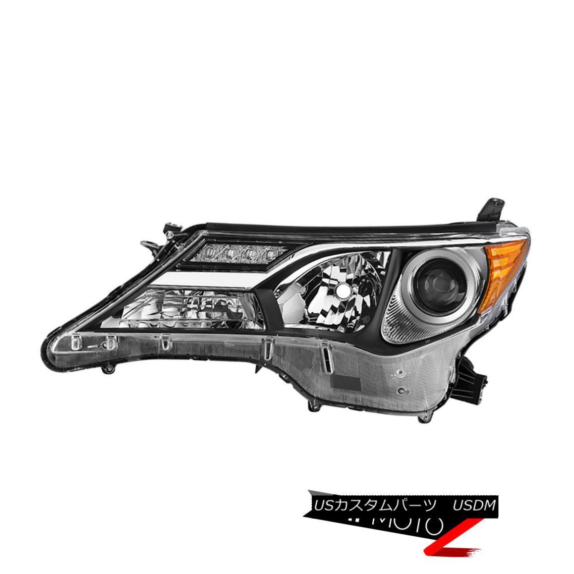 ヘッドライト {Driver Side} 2013-2015 Toyta RAV4 Limited Factory Chrome Head Light Lamp Left {ドライバーサイド} 2013-2015トヨタRAV4限定工場Chromeヘッドライトランプ左
