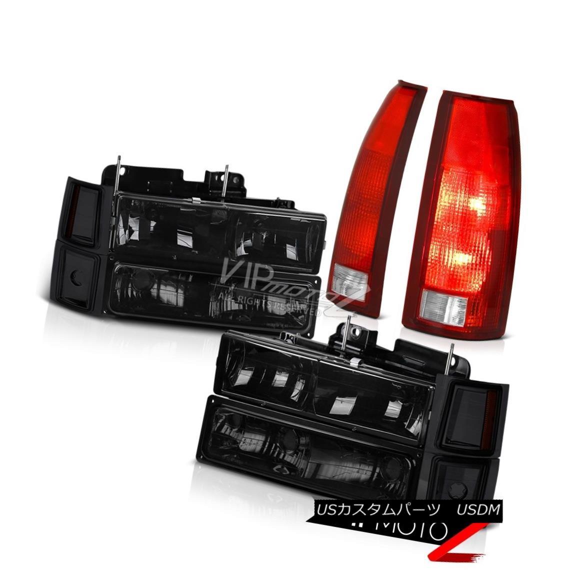 ヘッドライト 94-98 Chevy Cheyenne Red Clear Taillights Smoked 8Pcs Headlight Combo Assembly 94-98 Chevy Cheyenneレッドクリアテイルライトスモーク8Pcsヘッドライトコンボアセンブリ