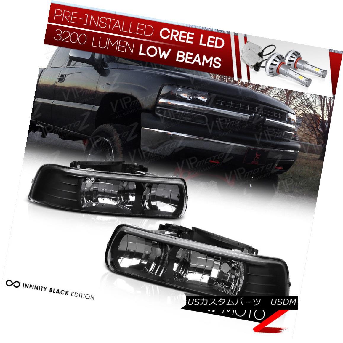 ヘッドライト [BUILT-IN LED LOW BEAM] 99-02 Chevy Silverado 00-06 Suburban/Tahoe Headlight L+R [内蔵LEDロービーム] 99-02 Chevy Silverado 00-06郊外/タホヘッドライトL + R