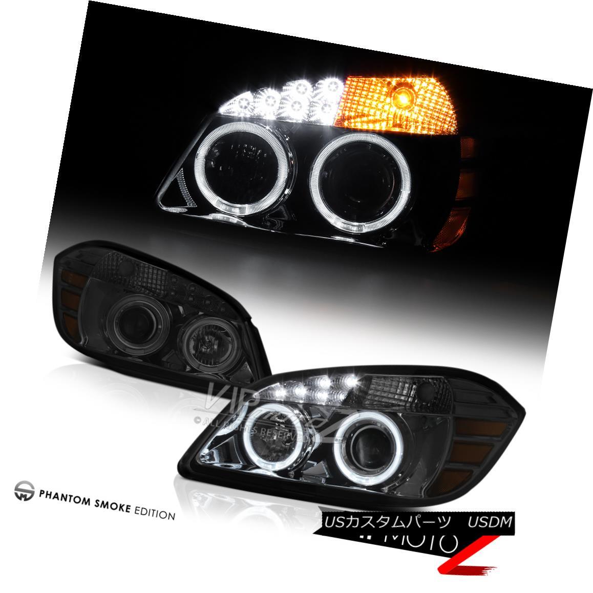 ヘッドライト 2005-2010 Chevy Cobalt Smoke LED SMD DRL Projector Angel Eye Headlights Assembly 2005-2010シボレーコバルトスモークLED SMD DRLプロジェクターエンジェルアイヘッドライトアセンブリ