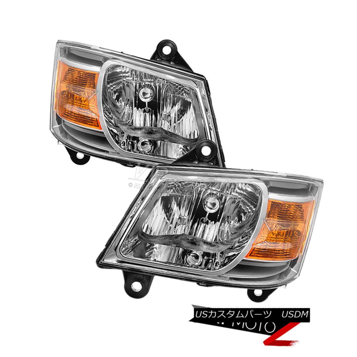 ヘッドライト 2008 2009 2010 Dodge Caravan OE Style Headlights Headlamps Assembly Left Right 2008年2009年2010 Dodge Caravan OEスタイルヘッドライトヘッドランプアセンブリ右