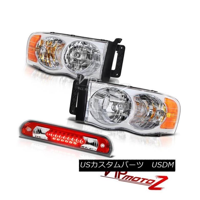 ヘッドライト Pair New Left Right Headlamps 3rd Brake Red LED Lights 02 03 04 05 Dodge Ram ペア新しい左右ライトヘッドランプ第3ブレーキ赤色LEDライト02 03 04 05ドッジラム