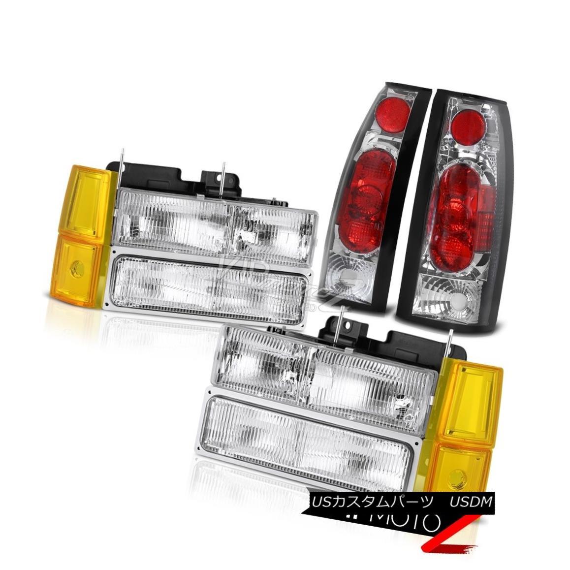 ヘッドライト 1994-1998 GMC C2500 Crystal Clear Headlamps Corner Taillights Altezza Assembly 1994-1998 GMC C2500クリスタルクリアヘッドランプコーナーテイルライトAltezzaアセンブリ