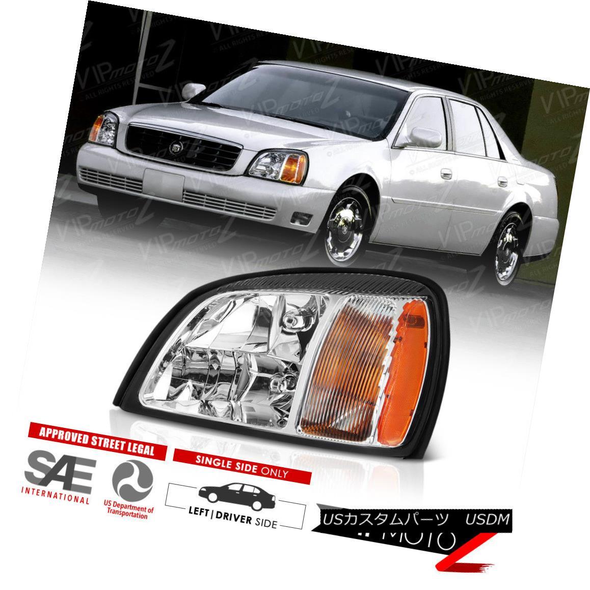 ヘッドライト 2000-2005 Cadillac DeVille Left DRIVER SIDE Headlights Headlamps Assembly New 2000-2005キャデラックDeVille左のドライバーサイドヘッドライトヘッドランプアセンブリ新