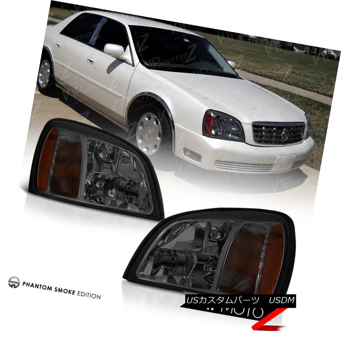 ヘッドライト 2000-2005 Cadillac DeVille [SMOKE] Front Headlights Headlamp Assembly PAIR LH+RH 2000-2005 Cadillac DeVille [SMOKE]フロントヘッドライトヘッドランプアセンブリPAIR LH + RH