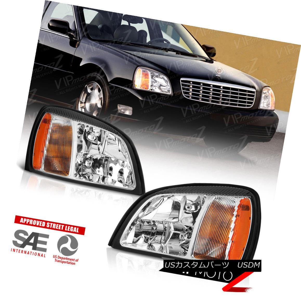 ヘッドライト [FACTORY STYLE] 2000-2005 Cadillac Deville Sedan Limo Headlights NEW PAIR LH+RH [FACTORY STYLE] 2000-2005キャデラックデビルセダンリムジンヘッドライトNEW PAIR LH + RH