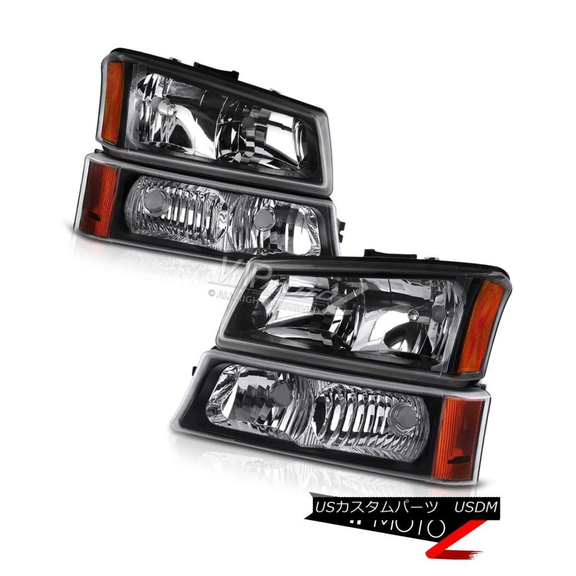 ヘッドライト 03-06 Silverado 1500 NEW Left Right Front Headlights Parking Signal Bumper Set 03-06 Silverado 1500 NEW左右フロントヘッドライトパーキングシグナルバンパーセット