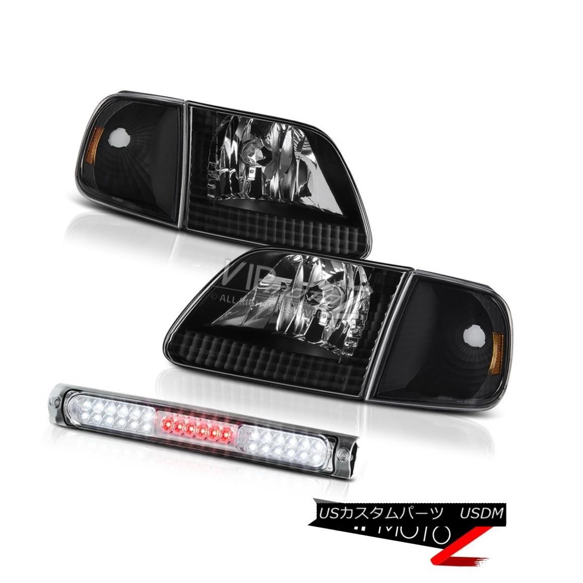 ヘッドライト Jet Black Headlights Corner High Brake Cargo LED 1997-2003 F150 Flareside 4.6L ジェットブラックヘッドライトコーナーハイブレーキカーゴLED 1997-2003 F150フラレイド4.6L
