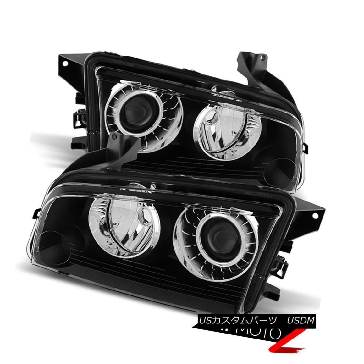 ヘッドライト 2008-2009-2010 Dodge Charger [FACTORY HID MODEL] D1S Black Headlights Assembly 2008-2009-2010 Dodge Charger [FACTORY HID MODEL] D1Sブラックヘッドライトアセンブリ
