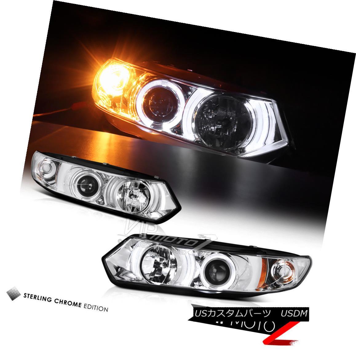 ヘッドライト Left+Right Halo Projector Clear Headlight Signal Lamp 06-11 Honda Civic 2D Coupe 左+右ハロープロジェクタークリアヘッドライト信号ランプ06-11ホンダシビック2Dクーペ
