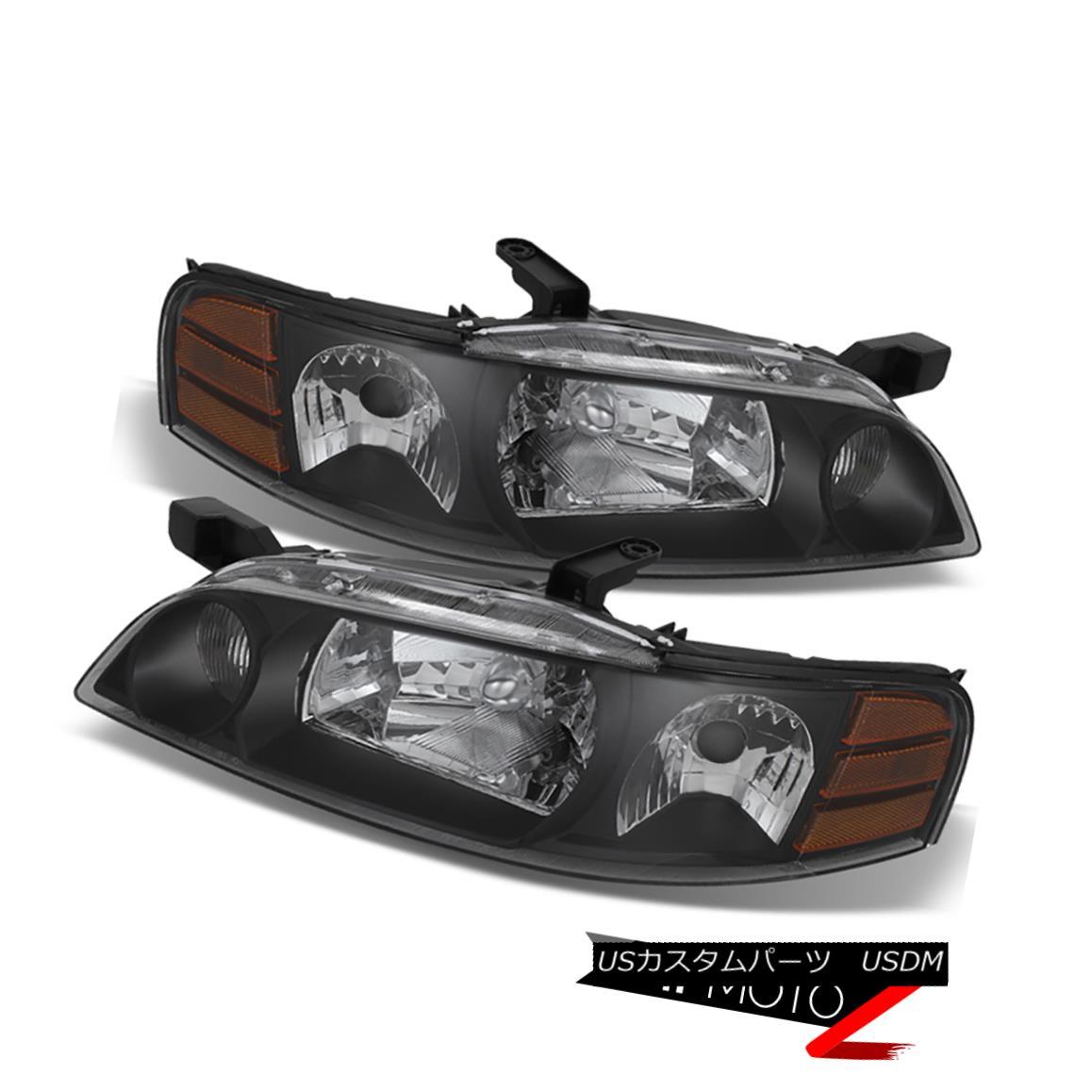ヘッドライト For 2000 2001 Altima GLE GXE SE XE Black LEFT RIGHT Headlights Assembly JDM 2.4L 2000年のAltima GLE GXE SE XEブラックLEFT RIGHTヘッドライトアセンブリJDM 2.4L