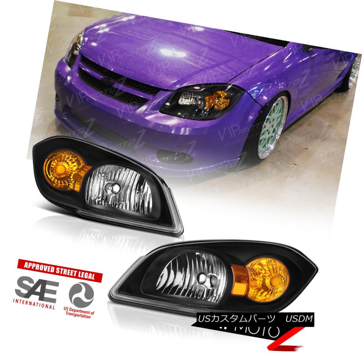 ヘッドライト 05-10 Chevrolet Cobalt Pontiac G5 Infinity Black