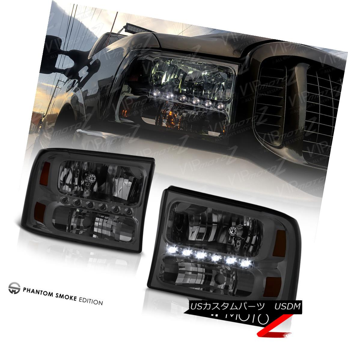 ヘッドライト 1999-2004 Ford F250 F350 F450 SD SuperDuty Smoke
