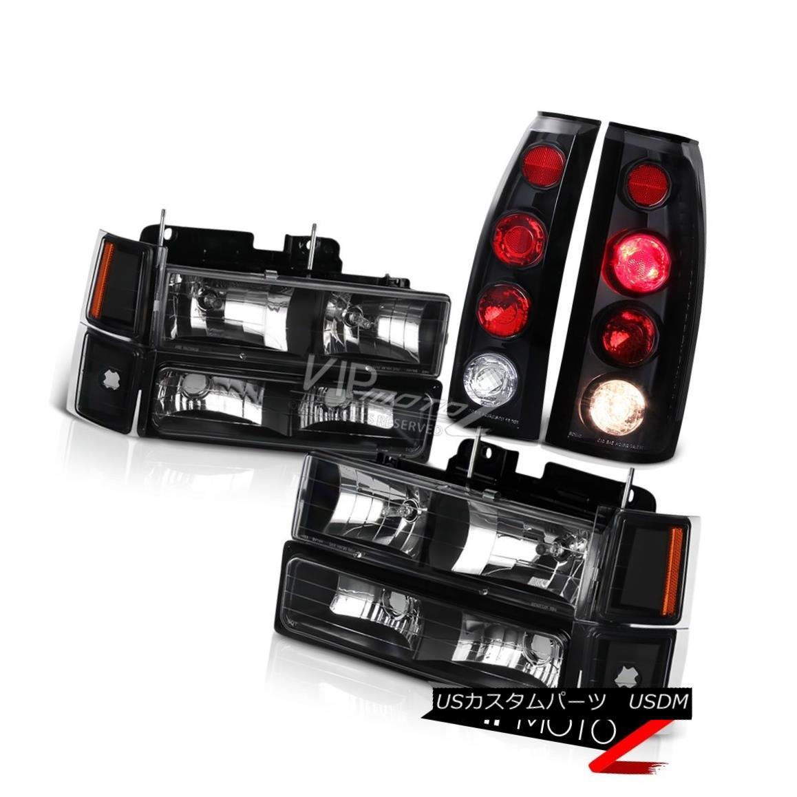 ヘッドライト 1994 1995 1996 1997 1998 Chevy K1500 C1500 Suburban Black Headlight Tail Lights 1994 1995 1995 1996 1997 1998 Chevy K1500 C1500郊外型ブラックヘッドライトテールライト