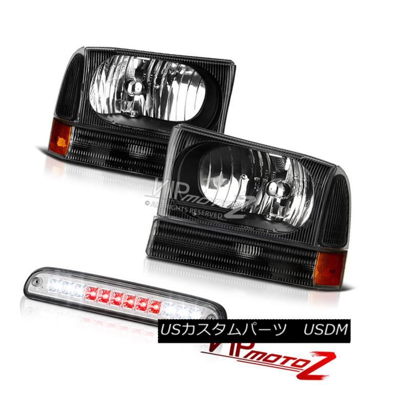ヘッドライト 99 00 01 02 0304 F350 6.8L Lelf Right Black Headlamps High Third Brake Cargo LED 99 00 01 02 0304 F350 6.8L Lelfライトブラックヘッドランプハイ3ブレーキカーゴLED