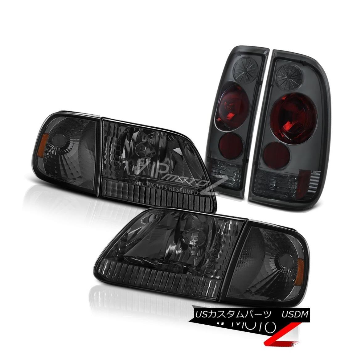 ヘッドライト 97 98 99 00 01 02 03 Ford F150 Darkest Smoke Corner+Headlights Brake Tail Lights 97 98 99 00 01 02 03 Ford F150最も暗い煙のコーナー+ Headlig  htsブレーキテールライト