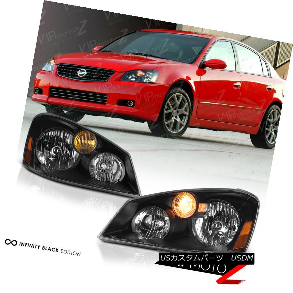 ヘッドライト [FACTORY HID XENON] Fit 2005 2006 Nissan Altima Black Headlights Headlamps SET [FACTORY HID XENON] Fit 2005 2006日産アルティマブラックヘッドライトヘッドランプSET