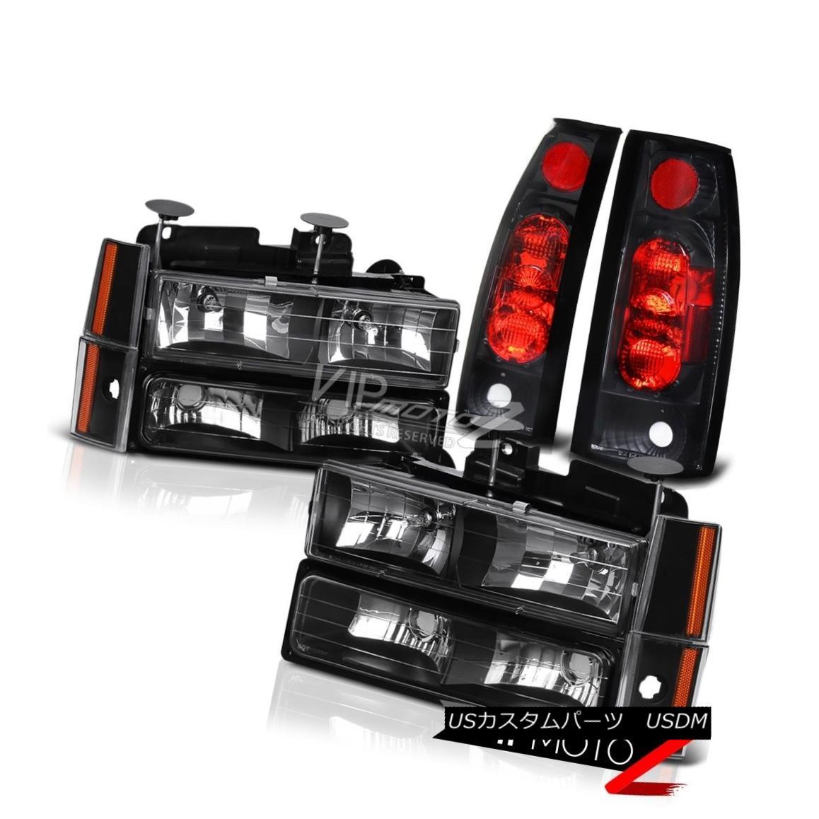 ヘッドライト 1992-1993 Chevy Blazer Suburban 1500 2500 Black Headlight Bumper Tail Light Lamp 1992-1993 Chevy Blazer郊外1500 2500ブラックヘッドライトバンパーテールライトランプ