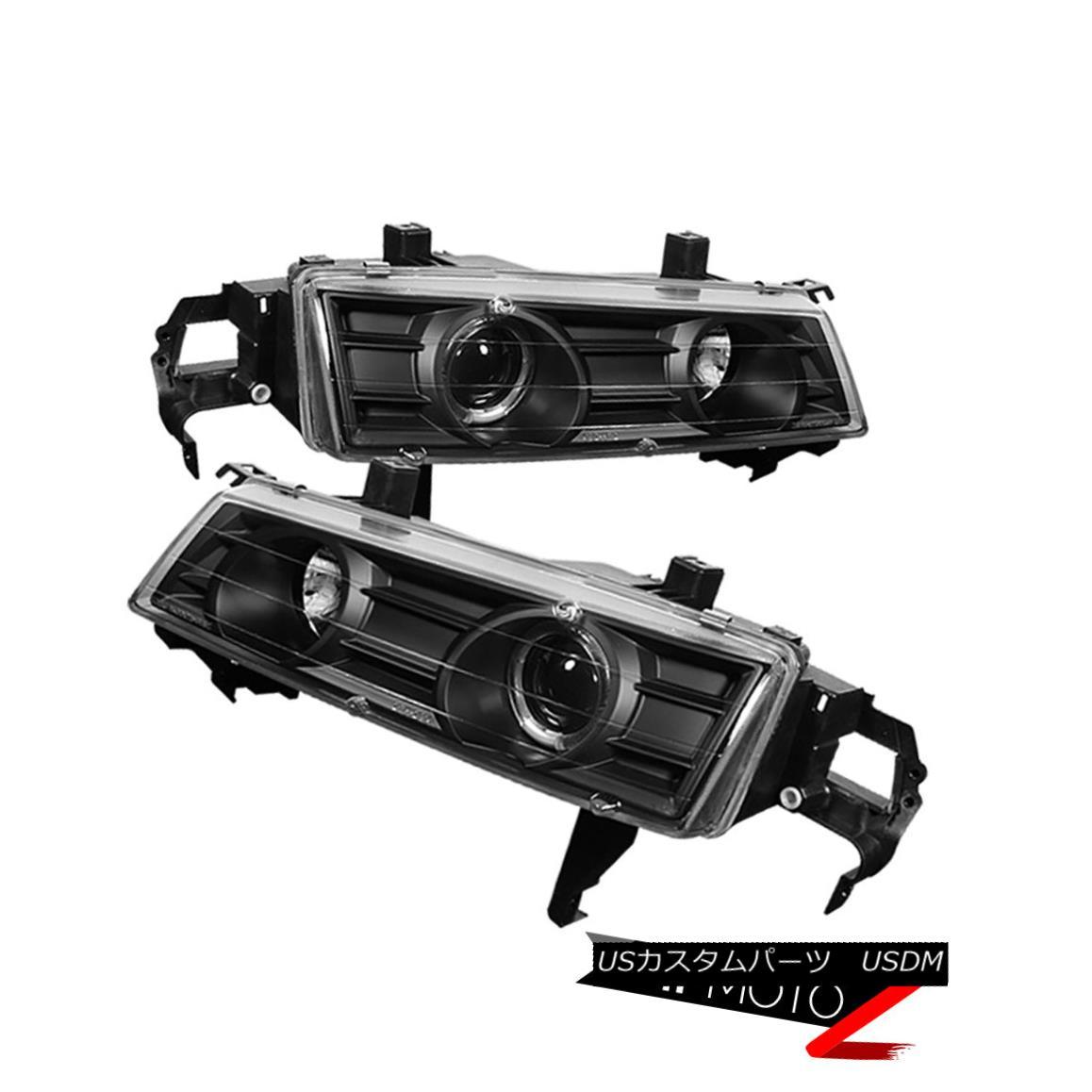 ヘッドライト L+R Black Projector Headlight Halo Angel Eye 1992-96 HONDA PRELUDE Type-SH H22 L + RブラックプロジェクターヘッドライトHalo Angel Eye 1992-96ホンダPRELUDEタイプSH H22