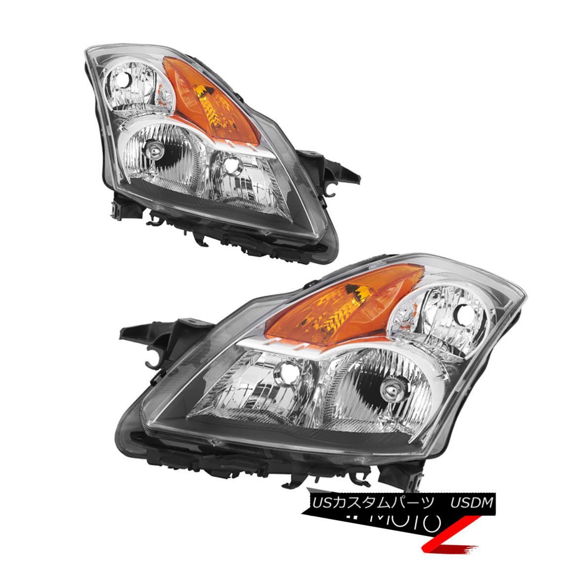 ヘッドライト {FACTORY STYLE} Chrome Reflector Headlights Lamp SET For 2007-2009 Nissan Altima {FACTORY STYLE}クロム反射板ヘッドライトランプ2007-2009日産日産アルティマ