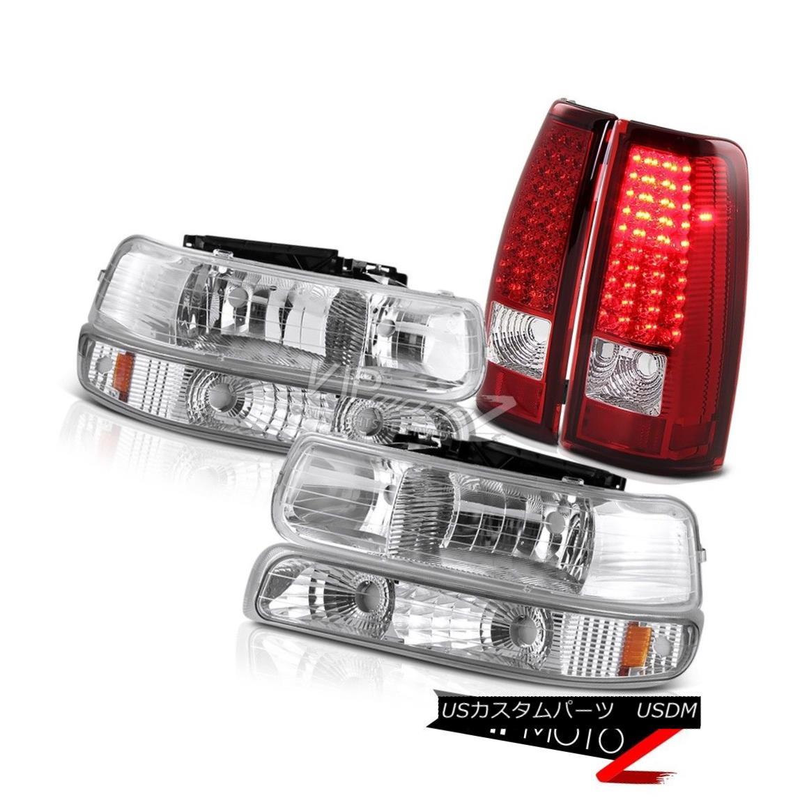 ヘッドライト 1999-2000-2001-2002 Chevy Silverado Signal Bumper Headlights LED Red Taillights 1999-2000-2001  -2002シボレーシルバラード信号バンパーヘッドライト赤色曇り灯