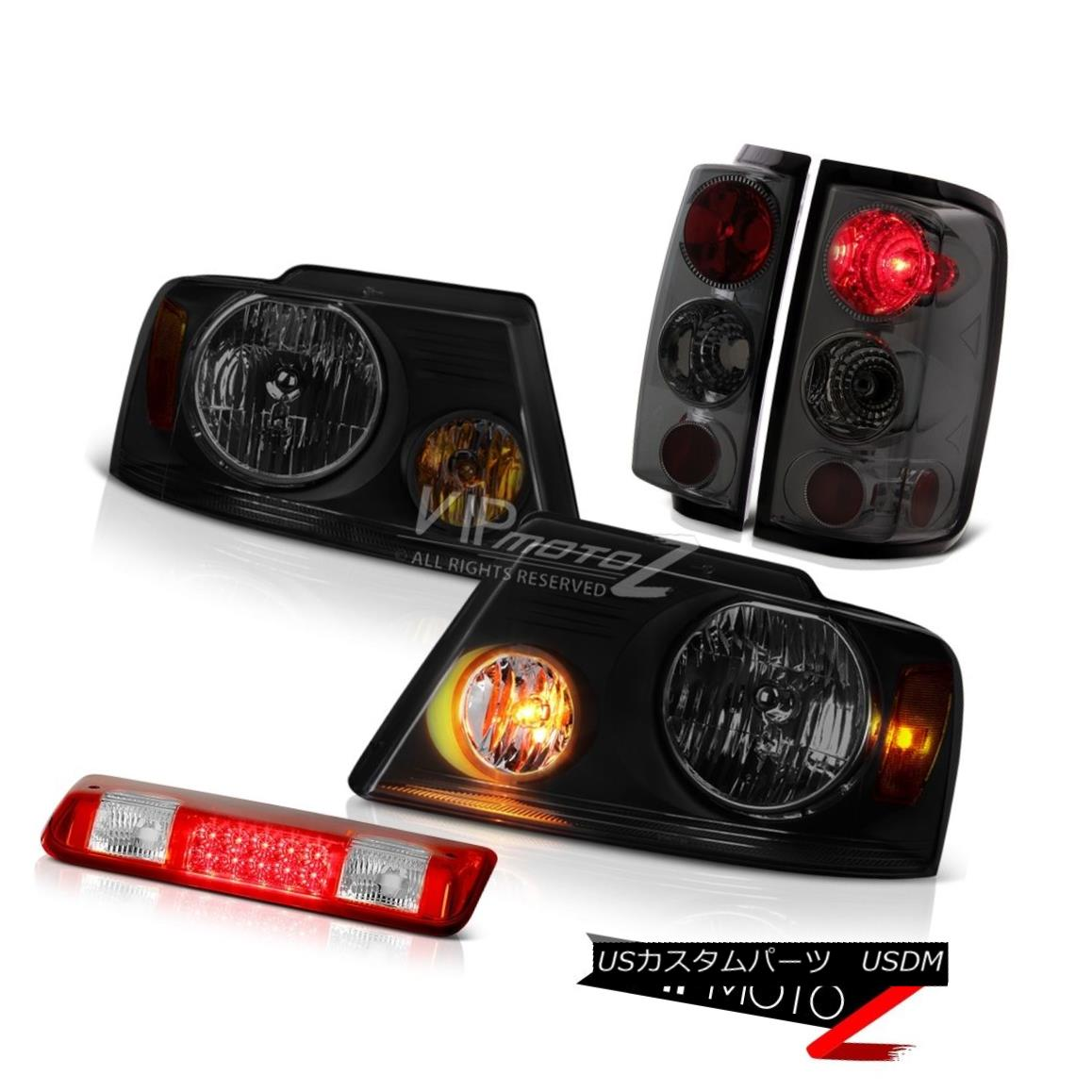 ヘッドライト 04-08 Ford F150 XLT Red Clear High Stop Lamp Headlamps Dark Smoke Taillamps LED 04-08 Ford F150 XLTレッドClearハイストップランプヘッドランプDark Smoke Taillamps LED
