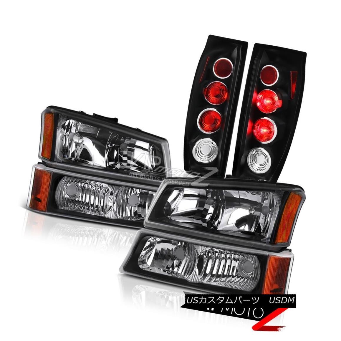 ヘッドライト 03-06 Chevy Avalanche 1500 Inky Black Tail Lights Signal Light Headlights Euro 03-06 Chevy Avalanche 1500 Inky Blackテールライトシグナルライトヘッドライトユーロ