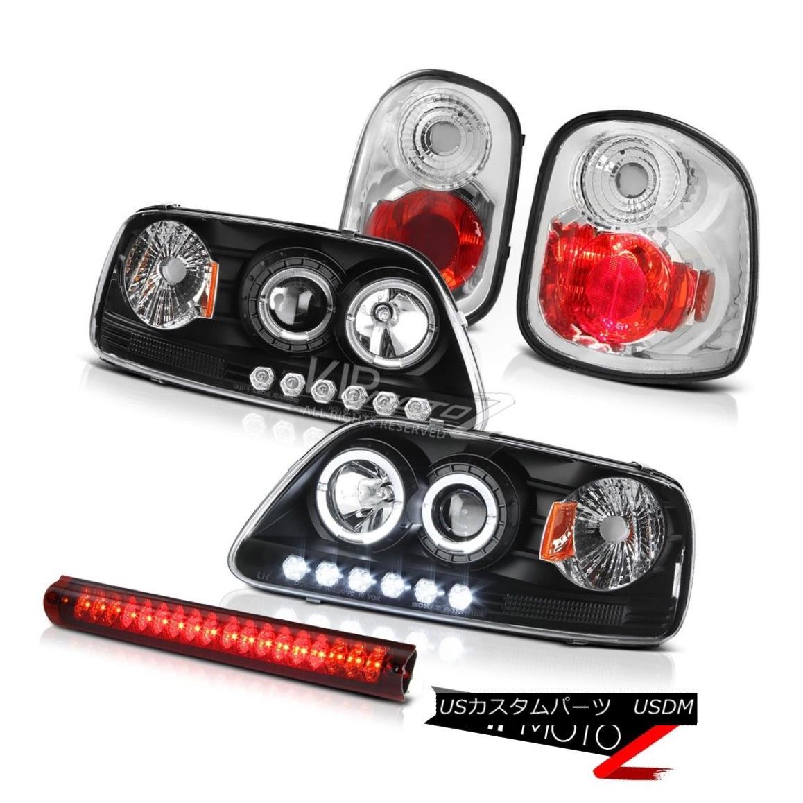 ヘッドライト Angel Eye Headlights Rear Brake Tail Lights Cargo LED 97-00 Ford F150 Flareside エンジェルアイヘッドライトリアブレーキテールライトカーゴLED 97-00 Ford F150 Flareside